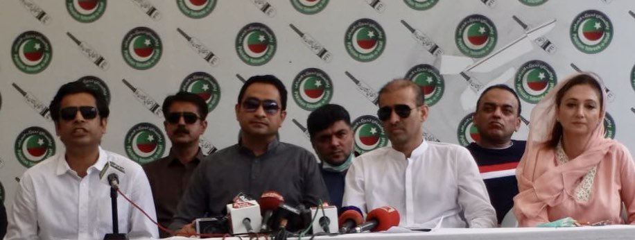 Press conf on #Karachi #rains.#PPP has destroyed Khi in the last https://t.co/gp5lQX6lCZ request to everyone in #Sindh dont give PPP a single vote in the #LocalBodyElection.Reject #Zardari #BilawalBhuttoZardari as the rest of #Pakistan& KHI has thrown them out @KhurrumZamanPTI https://t.co/syBjs3ZZP6