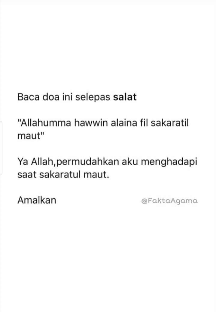 Assalamu'alaikum wbt 😊  Jangan lupa baca doa ni hari² deh  29 Zulkaedah 1441H  #salamDhuha https://t.co/rOCuPwrEuB