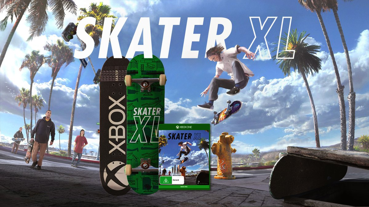 Want to shred in style with this one of a kind Xbox & @skater_xl deck? We'll even throw in a copy of the game for the winner, and three runners up.  RT & Follow to Enter. https://t.co/A6D9SCX81V