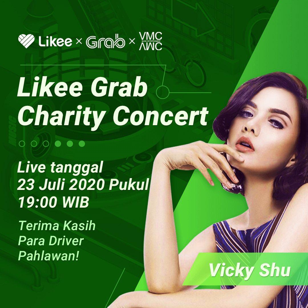 Yuk nonton!  Saya akan bergabung di konser Likee Grab Charity Concert yang akan berlangsung secara LIVE pada Kamis (23 Juli 2020) pukul 19.00 WIB di @likee indonesia di aplikasi @likee_official. #LikeeGrabCharityConcert https://t.co/LJM7efnB8F