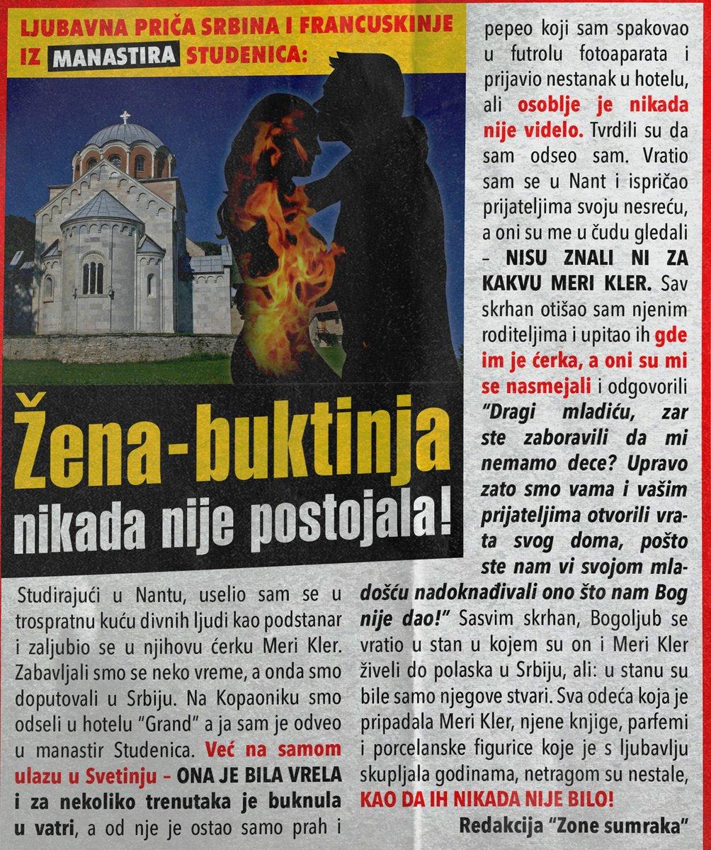 Žena izgorela pred manastirom