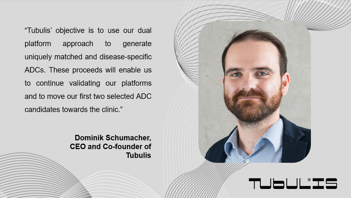 #Congrats to our client @Tubulis_GmbH on their €10.7M #SeriesA . We are happy to support the company on their journey towards revolutionizing the #ADC field. #AntibodyDrugConjugates #biotech