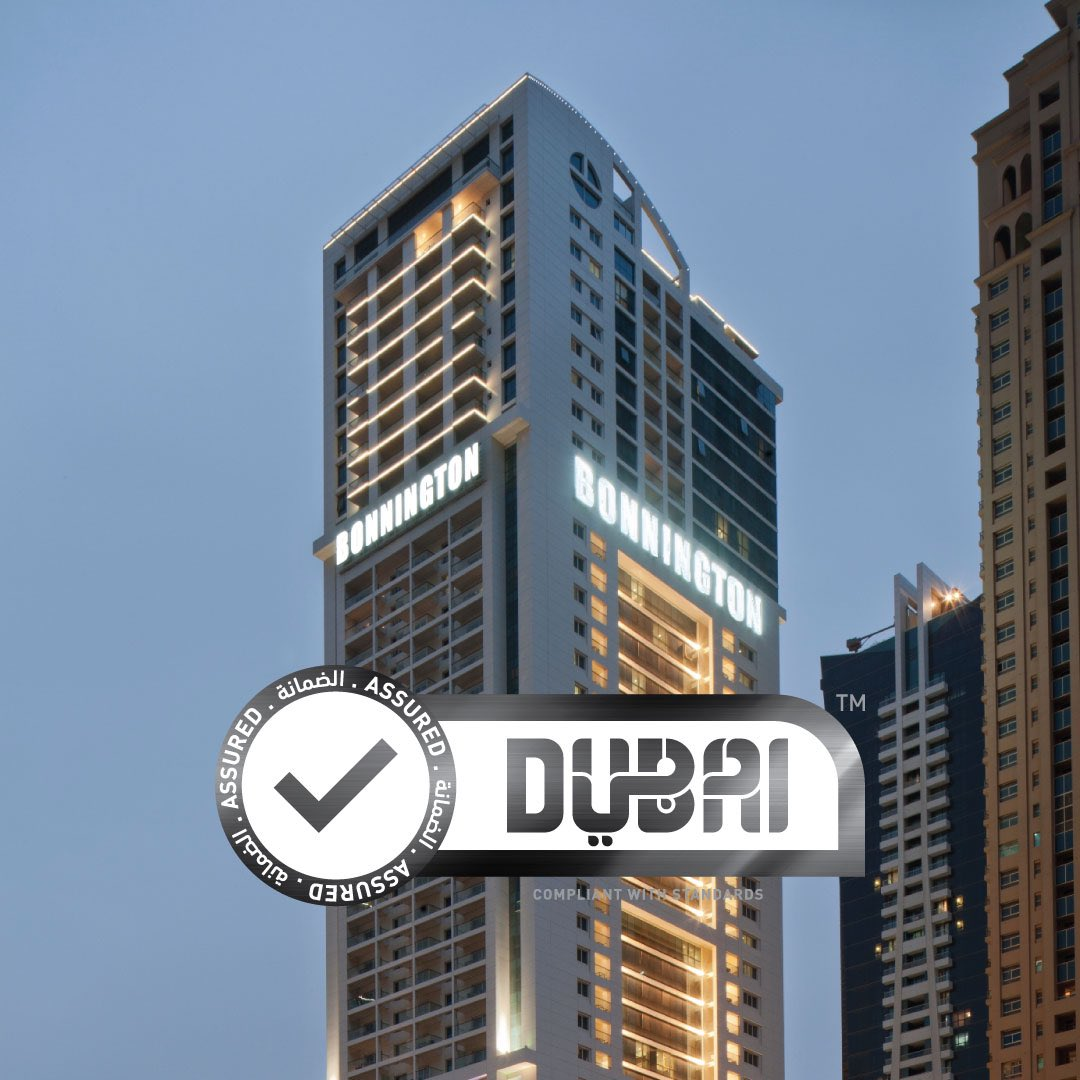 We're very pleased to announce that #BonningtonTower is compliant with Dubai government issued hygiene standards and is now issued with a Dubai Assured stamp. #StaySafe https://t.co/pTXdt5D0Zd
