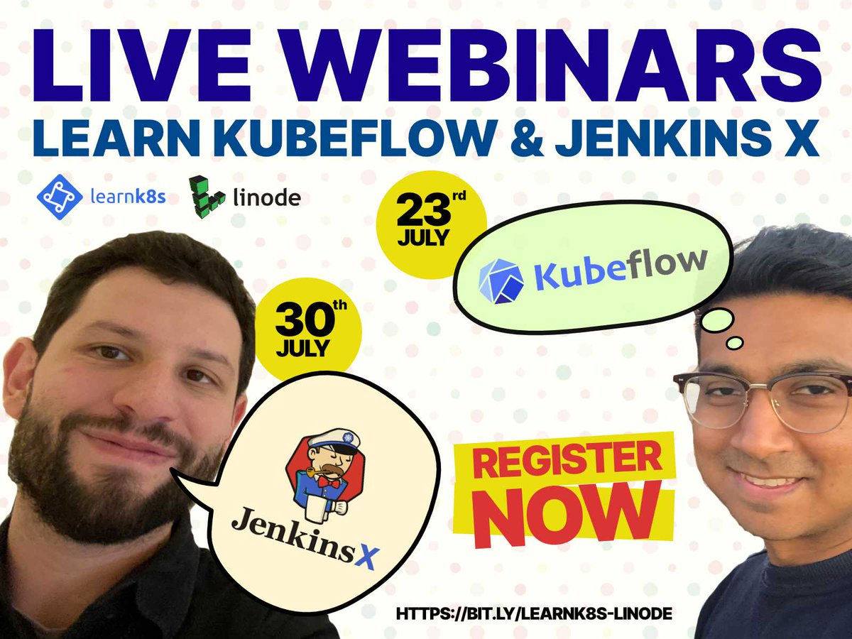 Just 2 more days until @SoulmanIqbal presents a webinar on @kubeflow! Packed with action! Youll go from deploying a single Jupiter notebook to scaling it using Kubernetes and Kubeflow (live demo). Register here event.on24.com/wcc/r/2451691/… Thanks @linode for hosting us!