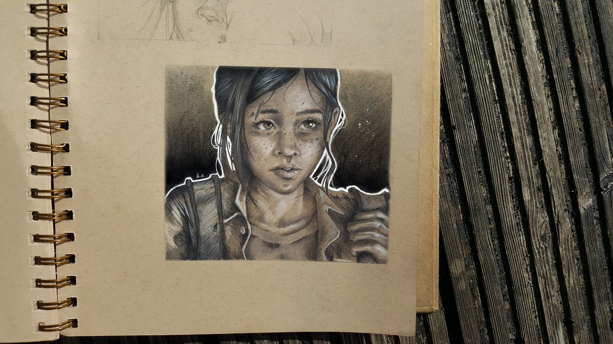 A warm-up sketch of Ellie in pencil, gouache and willow charcoal.  More TLOU art and thoughts in the pipeline over at http://www.instagram.com/leafysketches!  #Ellie #Elliefanart #TLOU2 #TheLastofUsPartII #TLOUart #womeningaming #femalelead #sketchbook #under1kgangpic.twitter.com/B2S1TNQH5f