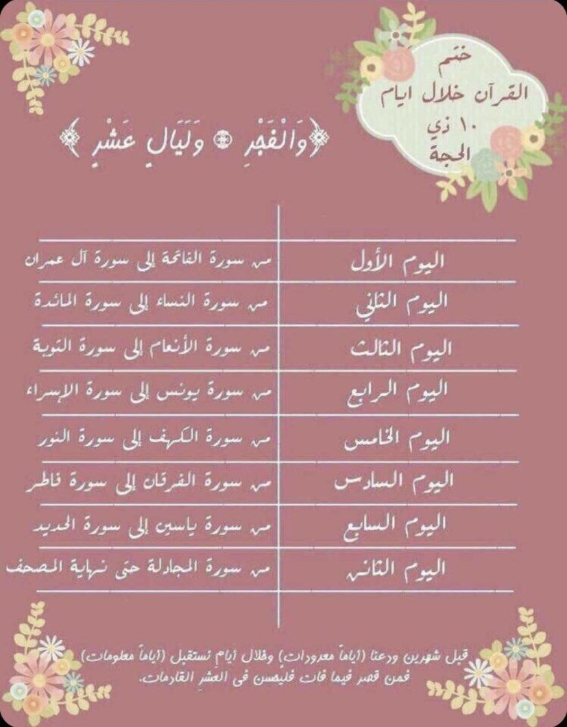 طريقة لختمِ القرآن للعشر الحجة