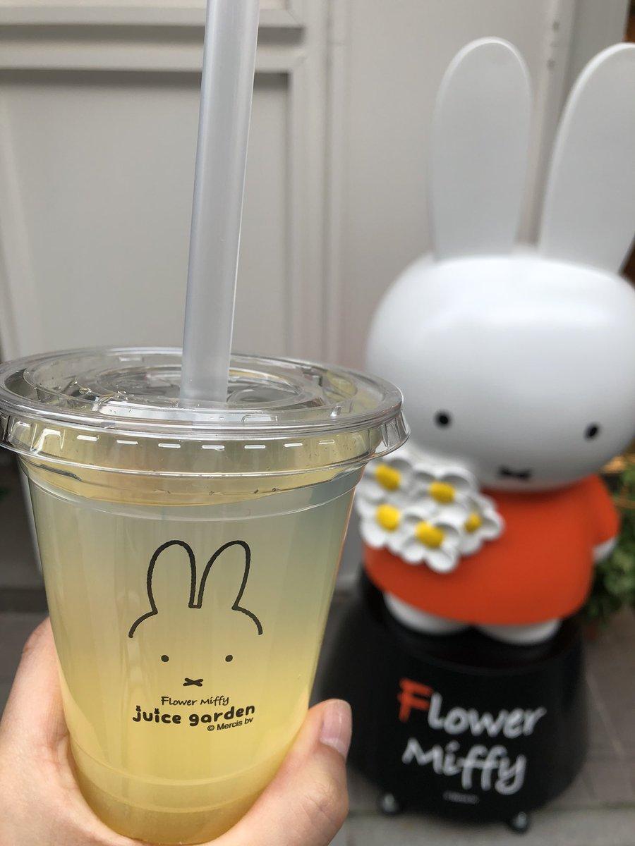 ミッフィー 浅草 フラワー ミッフィーのドリンクスタンド「フラワーミッフィー juice