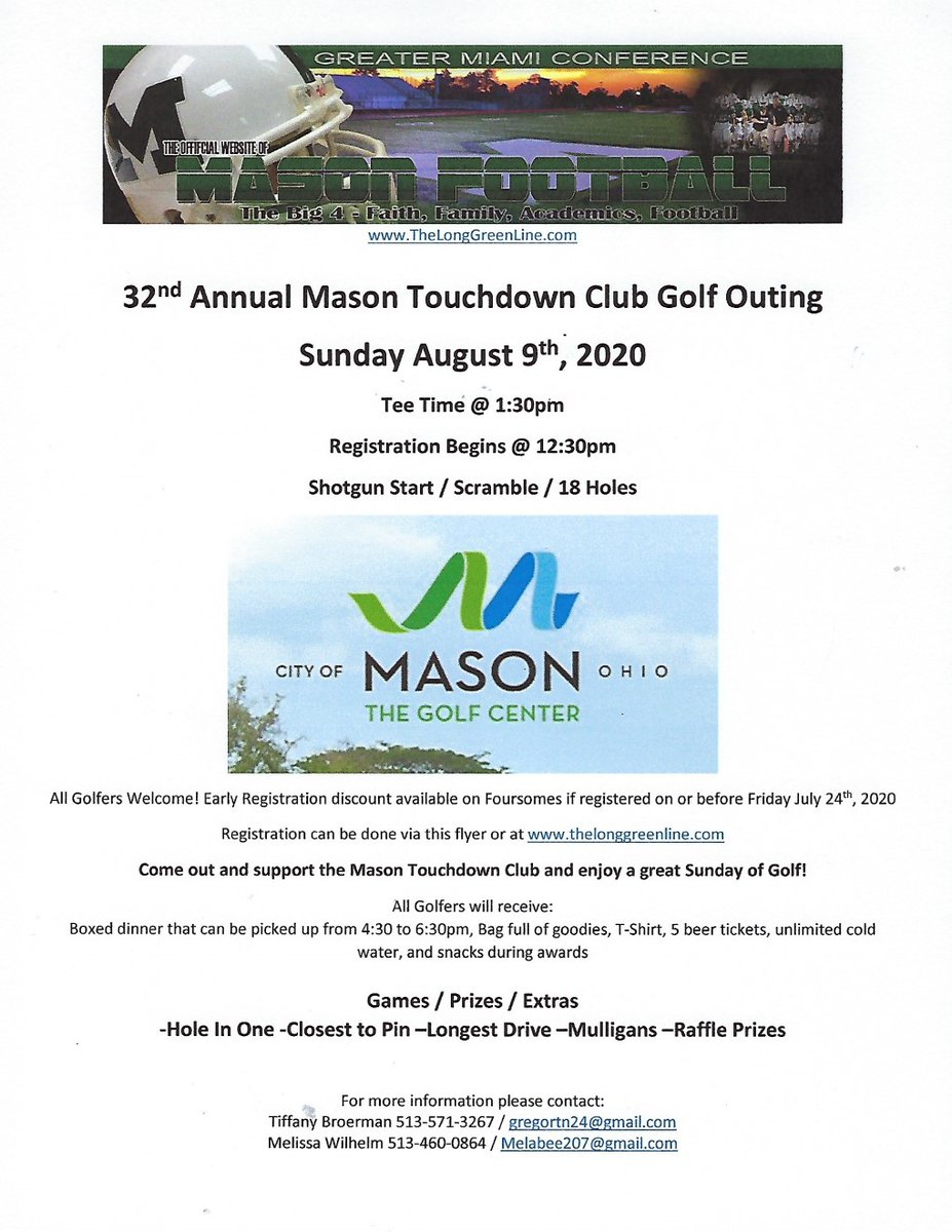Early registration deadline for 32nd Annual Touchdown Club Golf Outing is this Friday!  https://t.co/Y9ApQBmEEJ @CoachCastner https://t.co/AWdVOVqsqD