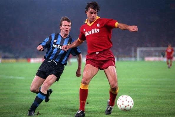 #LotharMatthäus and #ThomasBerthold in the 1990/91 #UEFACup final between #InterMilan and #ASRoma. #interroma