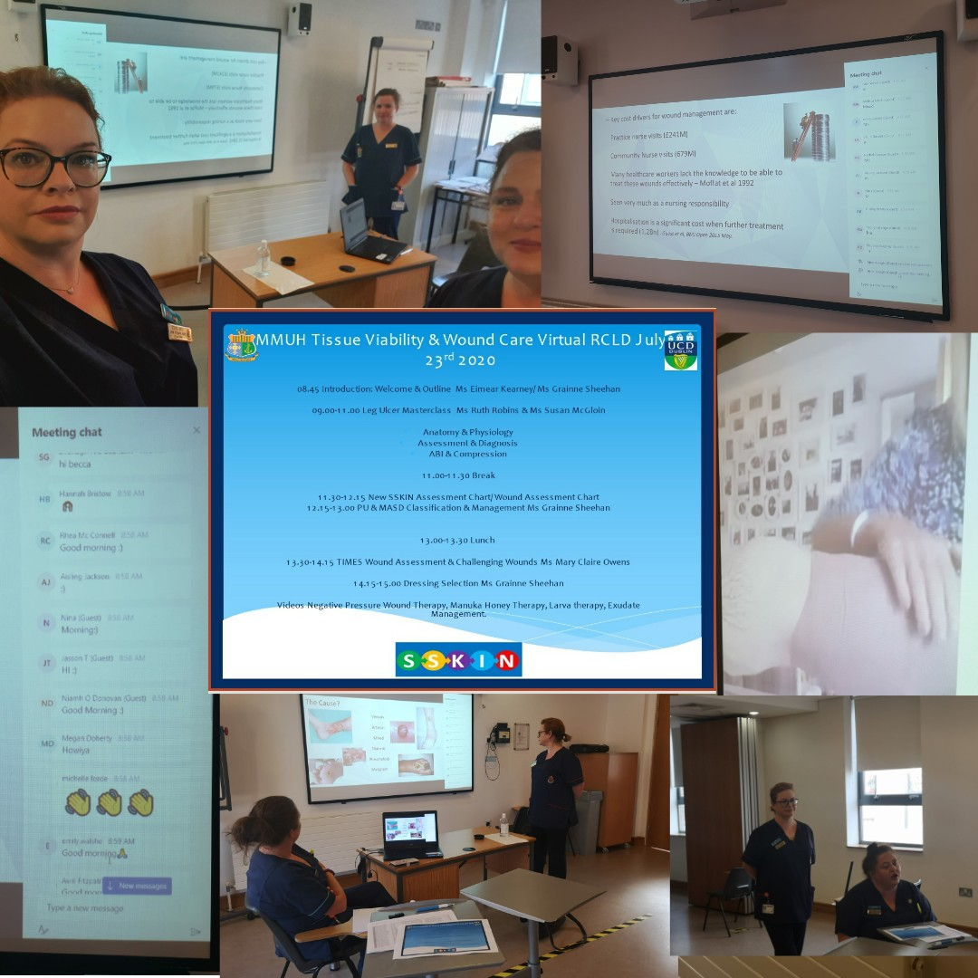 Our first virtual Reflective Clinical Learning Day in Tissue Viability with 72 Nursing Interns. Excellent interactive participation in this leg ulcer masterclass @MaterNursing @ucdsnmhs @DCUSNPCH @MaterQuality @sheehan_grainne @TVNAI2 @joycer1976 @MarieBr12687353 https://t.co/mswH2ZWjjI