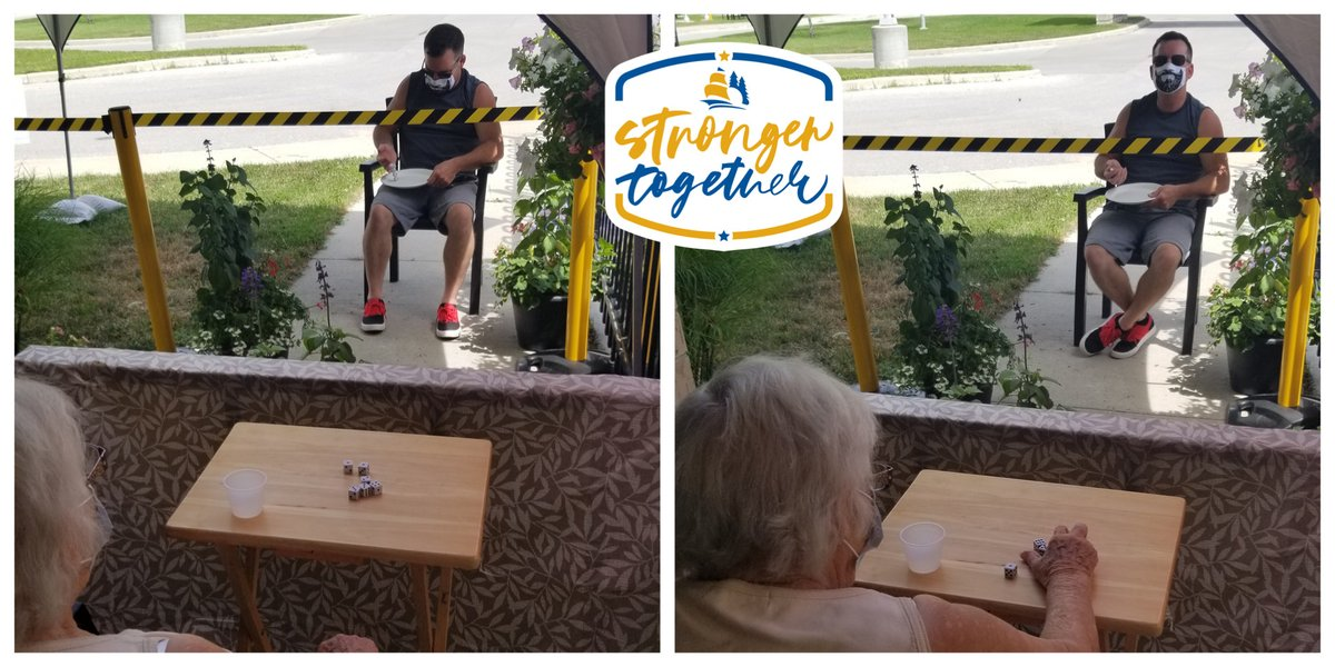 Even #COVID19 precautions couldn't keep #GeorgianVillage resident Simone from playing her favourite dice game with her grandson.  #strongertogether @penetanguishene #covidkindness #kindness #familytime #family #community #gametime #love #seniors #grandparentpic.twitter.com/mjq74wSU1k