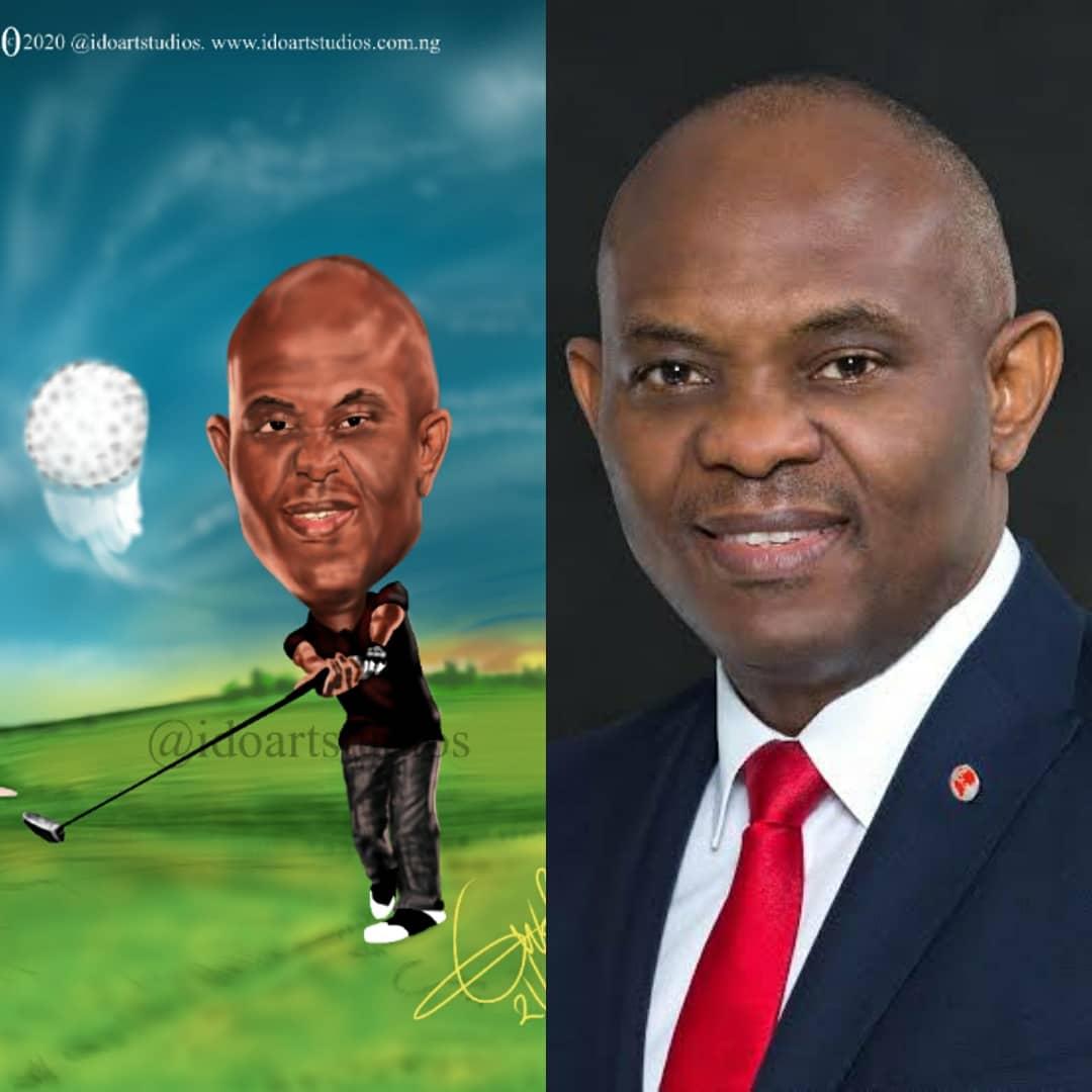 Is he or she a sport person?  We express them playing their favorite sport.   #uba #tonyelumelu #golf  #sport #drawing #art #caricature #cartoon #caricaturist #cartoonist #illustrator #illustration #nigeria #lagos #abuja #africa #banking #sketchbook #sketch #instapic  #bbnaija https://t.co/MAYhQfT9nG
