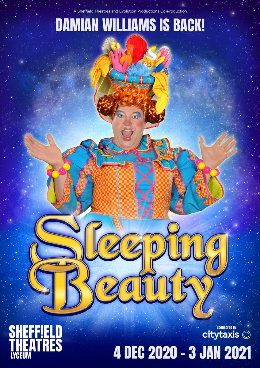 """Simon Sladen on Twitter: """"CONFIRMED: @SheffieldLyceum's 2020 #panto Sleeping  Beauty postponed to 2021. Pop up #panto featuring resident Dame  @djwilliamsact to take place in @crucibletheatre https://t.co/uy632Eg9HZ…  https://t.co/RNaIeoizVY"""""""