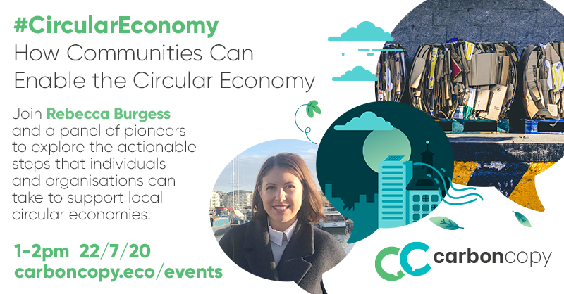 We're registered for this webinar Wednesday 1pm, How communities can enable the #circulareconomy. Of interest ? @FreeHerne @plasticfreefav @umbrella_cafe