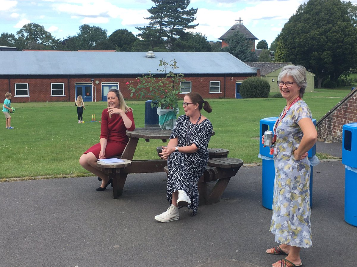 Today staff gathered to say goodbye to Mrs Oswick who has been a fabulous interim Headteacher during this year. We'd like to say a big thank you to her for her leadership.