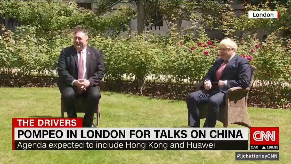 US Secretary of State Mike Pompeo meets with Boris Johnson and Dominic Raab to discuss a host of issues. #HongKong, #Huaweiand #Covid19 are just a few of the topics at hand. @NicRobertsonCNNjoins live from London with the latest.