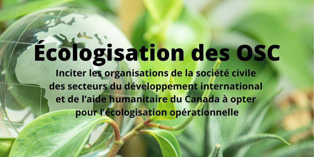 Est-ce que votre organisation est écologique? Prenez part du changement et partagez vos pensées avec le @CCCICCIC !