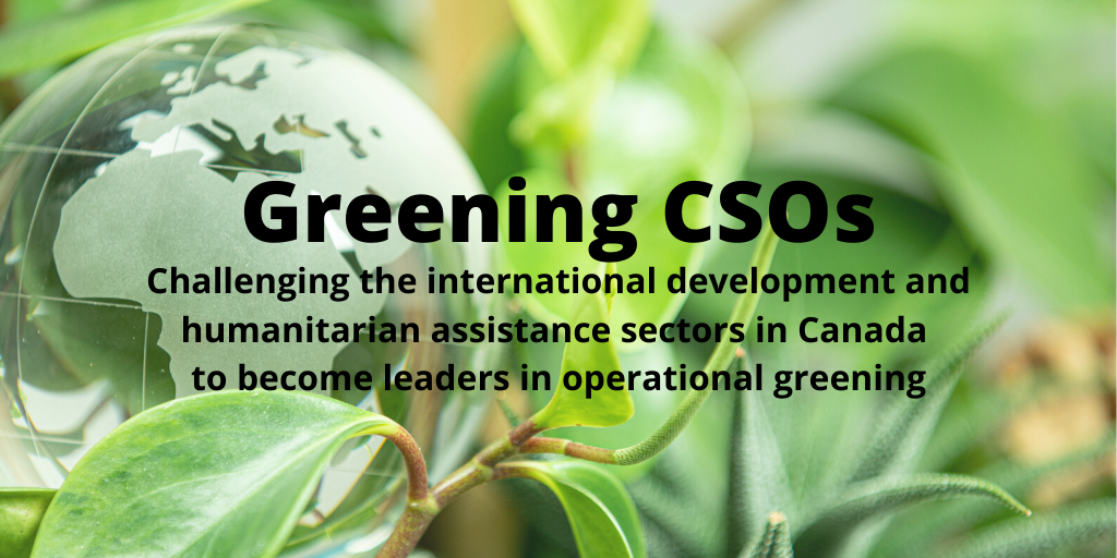 Is your organization green? Be part of the change, and let @CCCICCIC know your thoughts!