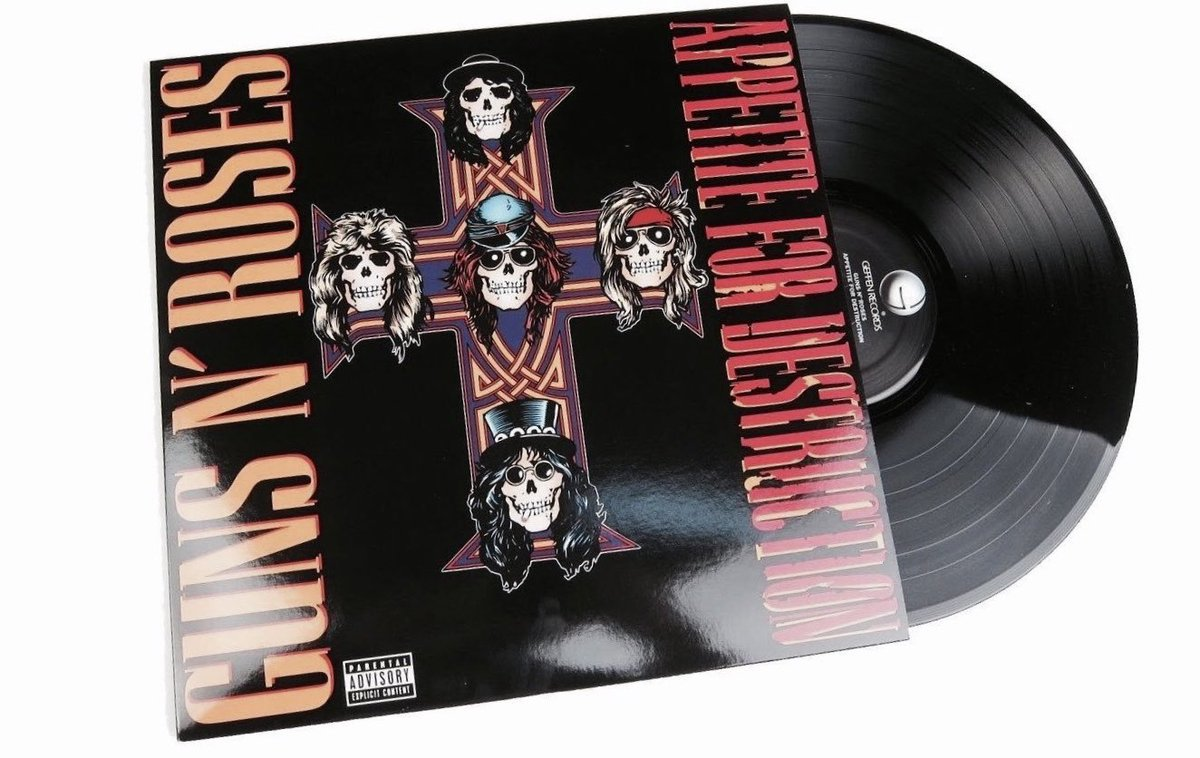 "retrochenta on Twitter: ""Hoy hace 33 años que los ""Guns N' Roses""  publicaron su primer álbum: ""Appetite for Destruction"". Nos daban la  bienvenida a la jungla.… https://t.co/NZBRv0k6Fg"""