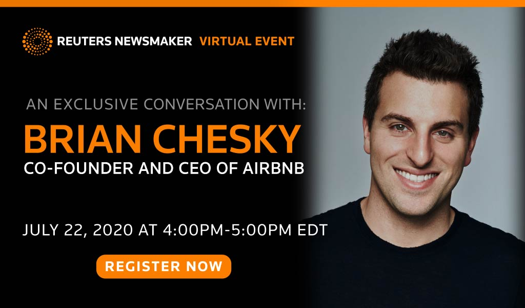 Join us tomorrow at 4pm ET for a live chat with @Airbnb CEO Brian Chesky. We'll discuss the changing travel industry and what that means for the future of his company. RSVP here: https://t.co/559JJkt0aO https://t.co/zFlhP2dguQ
