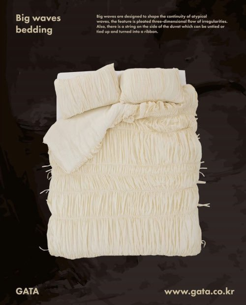 ruched 'big waves' bedding by gata