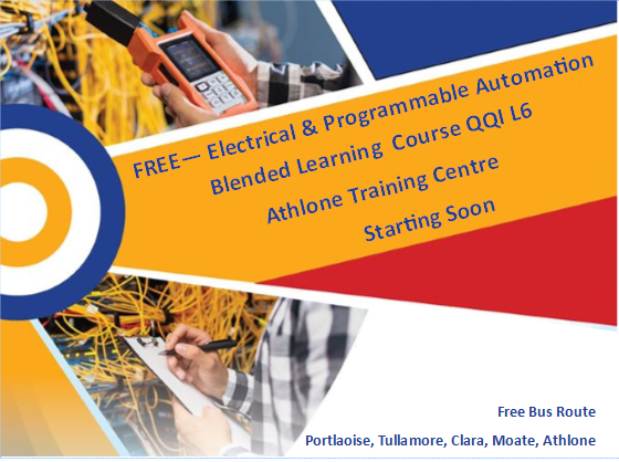 RECRUITING NOW IN ATHLONE - Electrical & Programmable Automation FREE – No course fees Free Bus FULL TIME Day Course QQI Level 6 programme Starting Autumn 2020 48 weeks Duration Over 18's only For more info - 01 882 5570 info@fit.ie Click here to apply - https://t.co/ML3XB4Gsu1