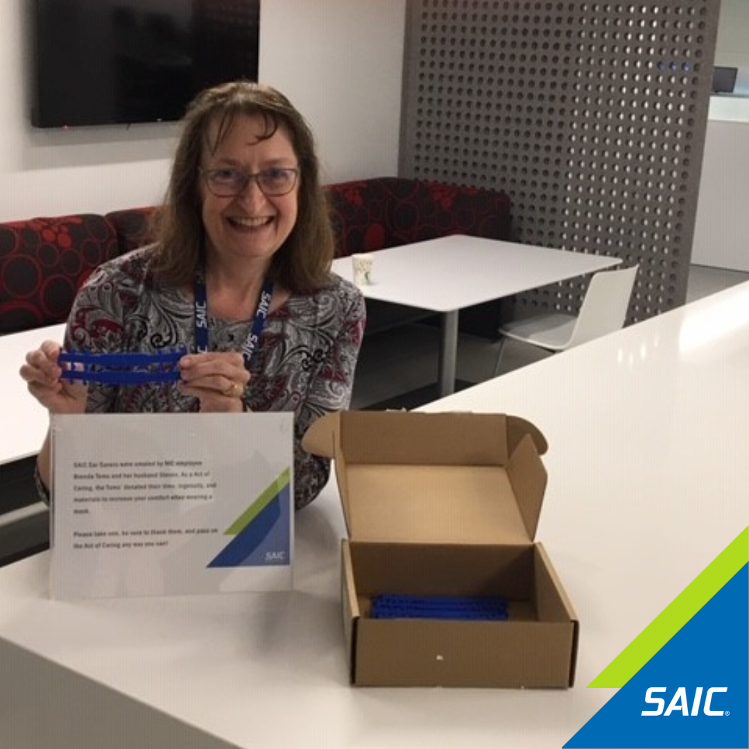 Our employee Brenda Tom and her husband 3D printed SAIC branded ear savers for #nationalsecurity employees working in secure environments. 500+ ear savers have also been made for #firstresponders. Thank you for your kindness and ingenuity. #ActsOfCaring #SAICares #Covid19Response https://t.co/oPrT9dyMGu