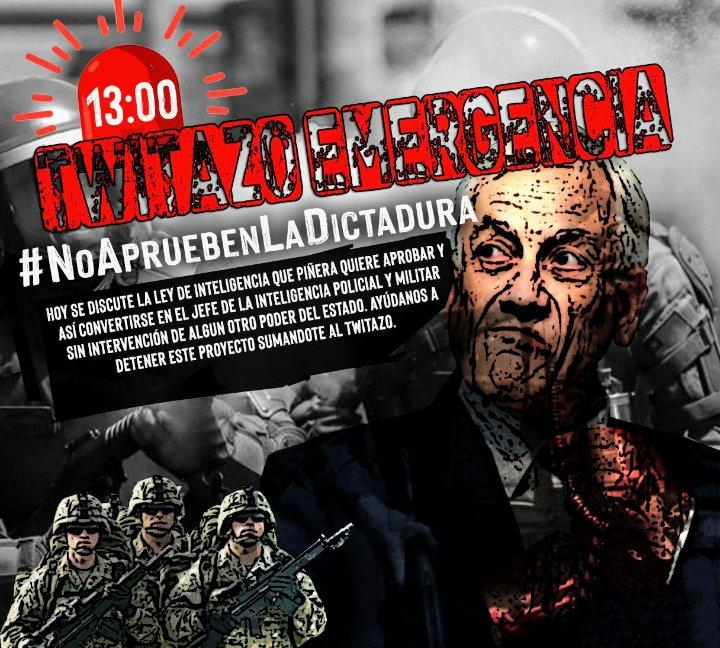 Ojo!! No se puede aprobar esta aberración!! @RoGarcia_uy @Chileokulto @EPInforma @eldesconcierto @Rojafilosofa @PiensaPrensa @MielyMerken @capucha_informa @rafa_cavada @cnashr  #NoApruebenLaDictadura #NoRetrocedamos #LeyDeInteligencia https://t.co/G9Rm3LyJRe