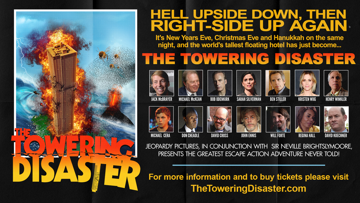 Only 4 more days! Get tickets at thetoweringdisaster.com #TheToweringDisaster