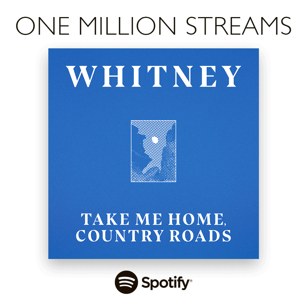 Thank you guys for getting 'Take Me Home, Country Roads' to 1 million streams on Spotify!