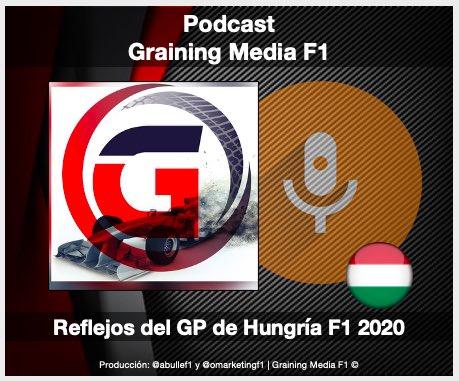 #F1 #HungariangGP | Podcast Graining Media F1 No. 45 con el análisis del GP de Hungría 2020 https://t.co/WpxkHbHoe1  Apple podcast : https://t.co/u1mXBZnR7c Ivoox: https://t.co/Xz7q1oFnQe Spotify: https://t.co/ZKnmAaUBGt https://t.co/M93FnLXlUN
