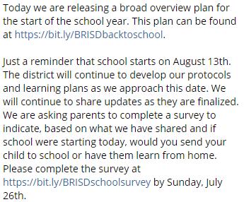 Blue Ridge ISD (@BlueRidgeISD) on Twitter photo 21/07/2020 21:56:50