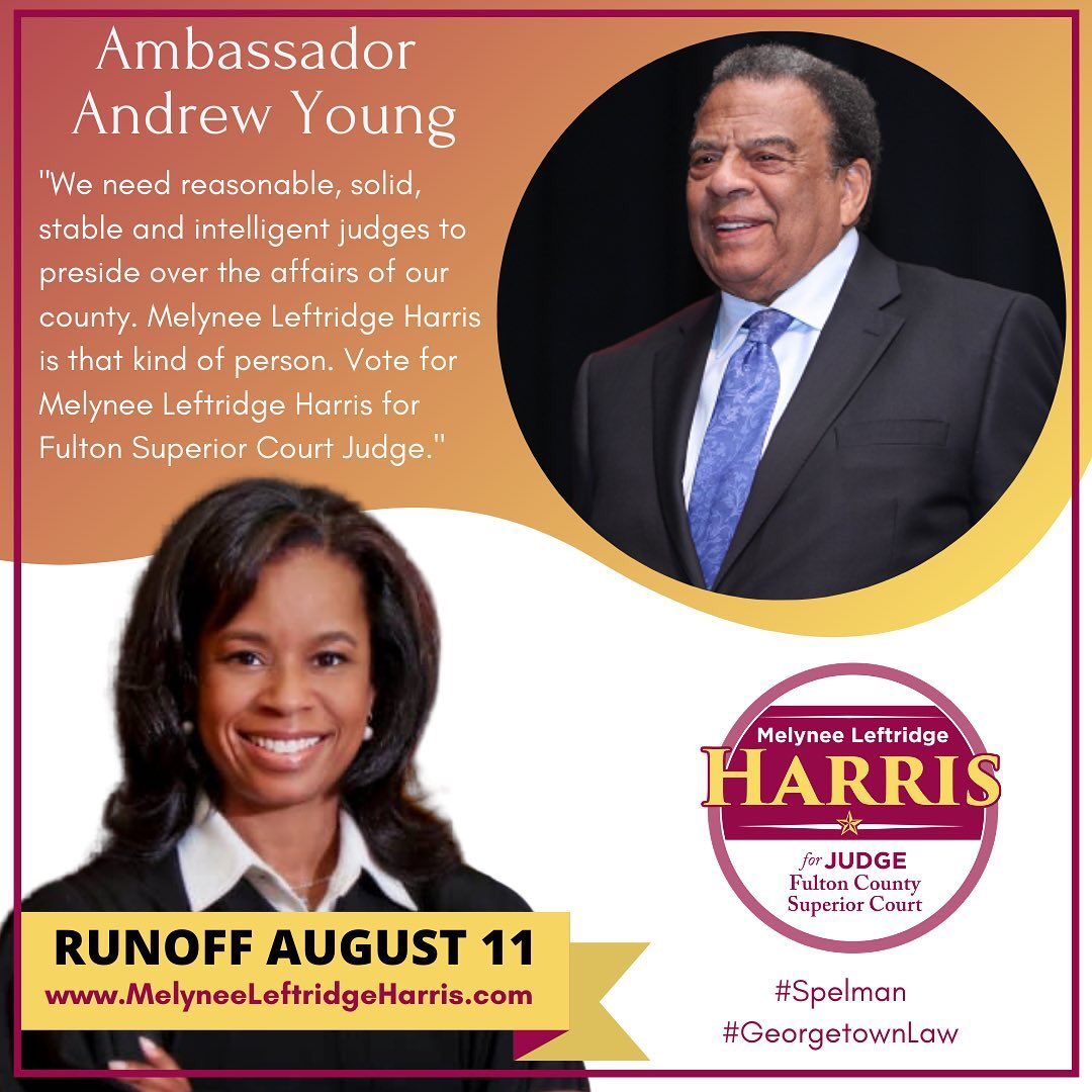 #Shoutout to our client, candidate for #FultonCounty Superior Court, Melynee Leftridge Harris on her endorsement from former #Atlanta Mayor and Ambassador Andrew Young. Learn more about Melynee here: http://MelyneeLeftridgeHarris.com. #TeamHarrispic.twitter.com/hTphoucSk0