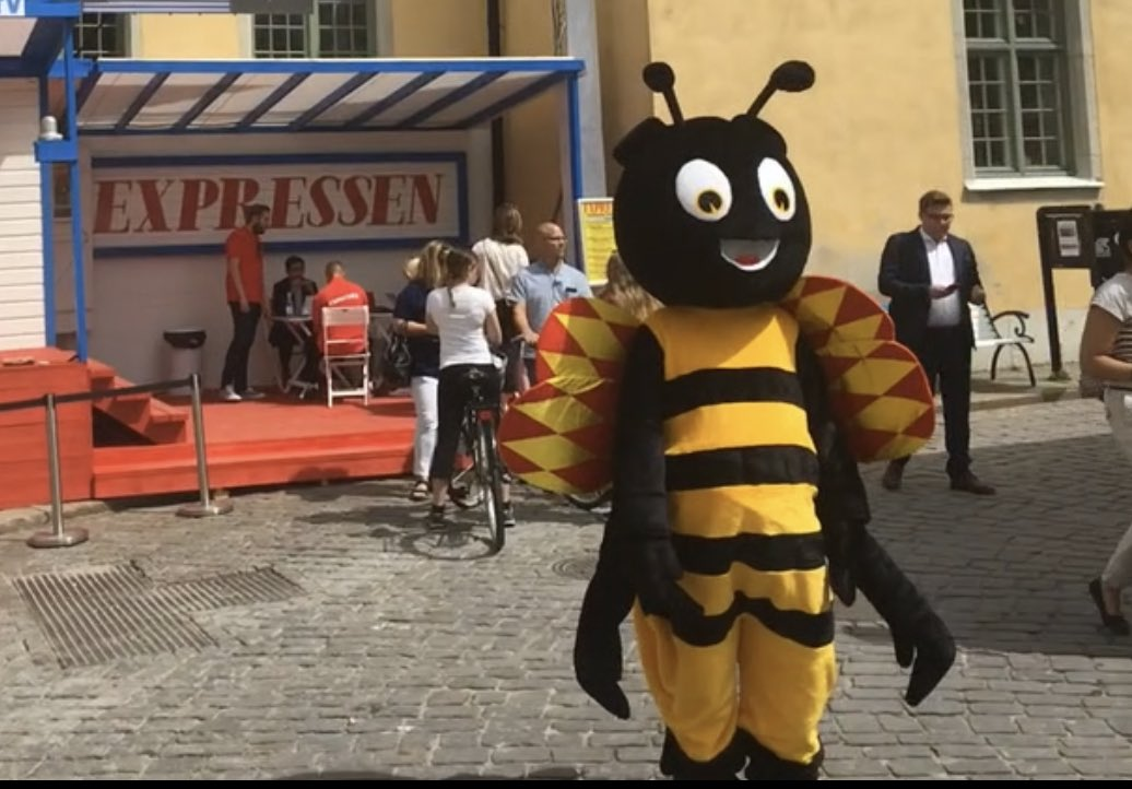 @INMAorg @NZStuff @VictoriaNZMedia The symbol of Swedish daily @Expressen is of course the 🐝