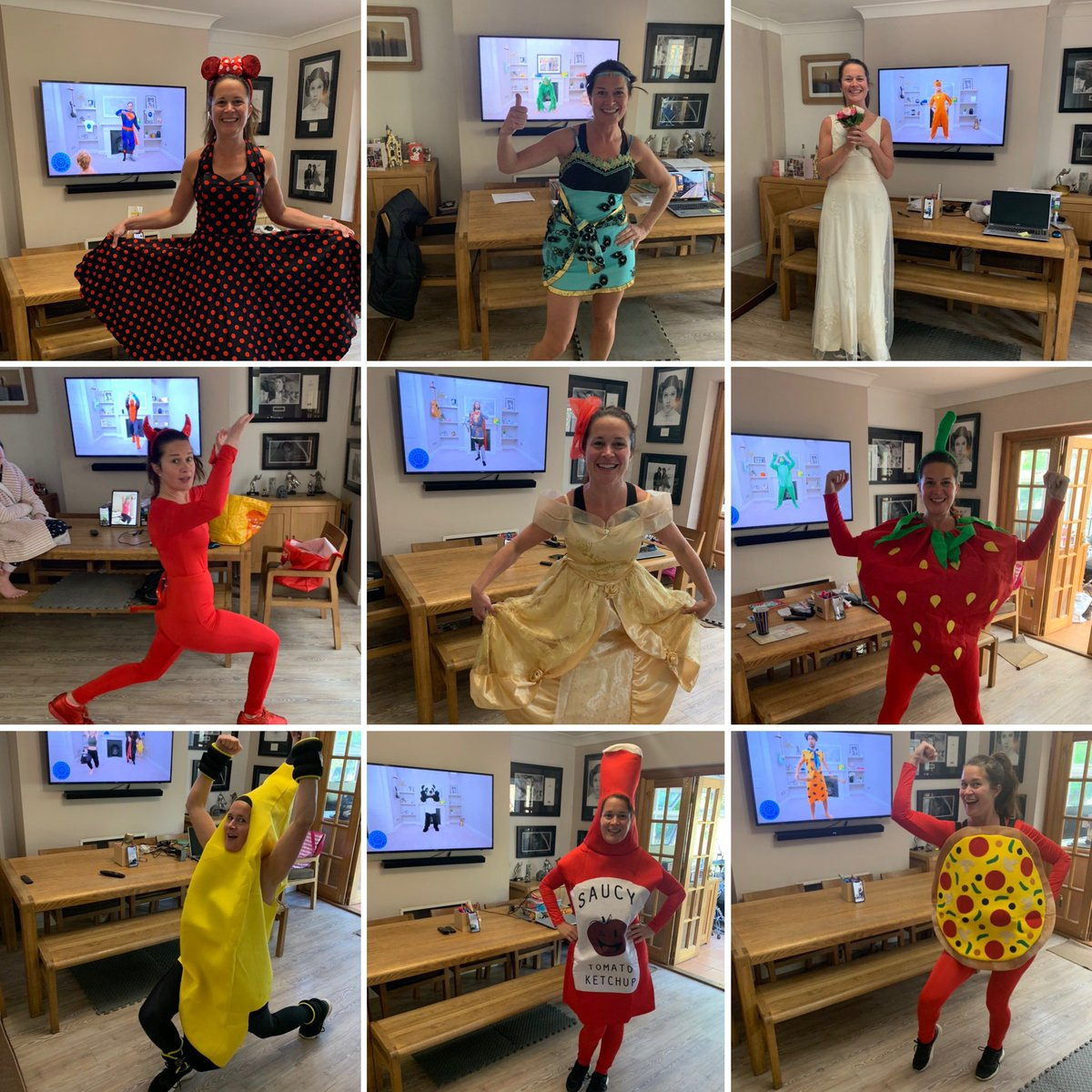 Sam has joined you from west wickham every morning @thebodycoach. Thank you for keeping her fit and happy in Lockdown! #fancydresspewithjoe #fancydressfriday #PEWithJoe #pewithjoewicks #westwickham #bromley #UnitedKingdom #London #staysafe https://t.co/J0laD6PvX8