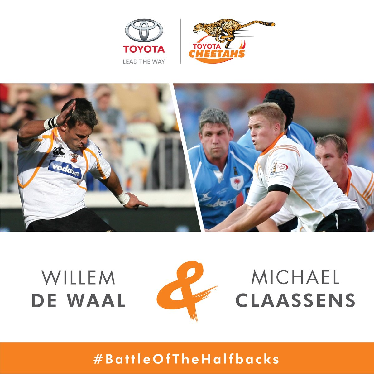 Voted by the fans! Willem de Waal & Michael Claasens are our most popular half-back pair. @ToyotaSA