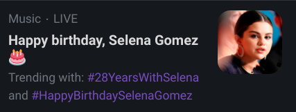 Bitches will say happy birthday to selena gomez but not to me... this is what is wrong with society today <//3 /j