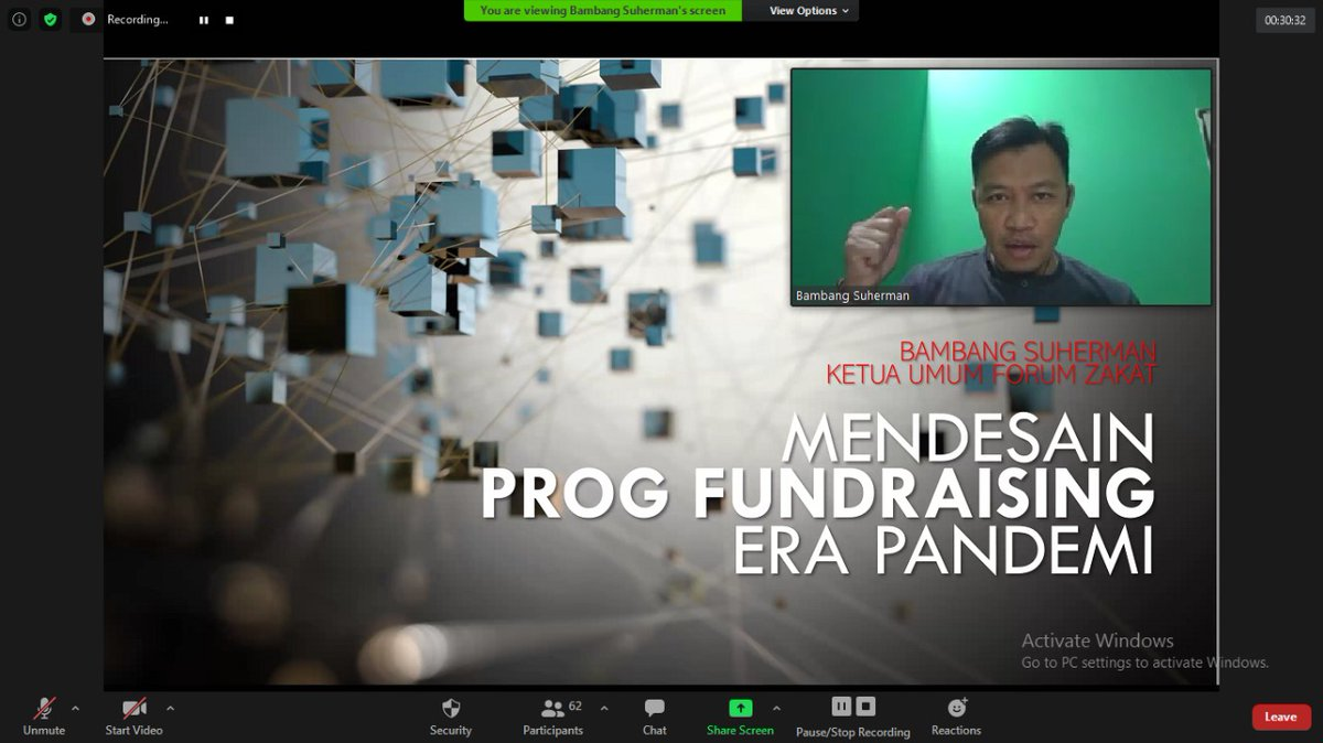 Mendesain Program Fundraising Era Pandemi, Rabu 22 Juli 2020 Bambang Suherman, Ketua FOZ, Direktur Pengembangan Zakat Dompet Dhuafa https://t.co/pQafbmvIeV