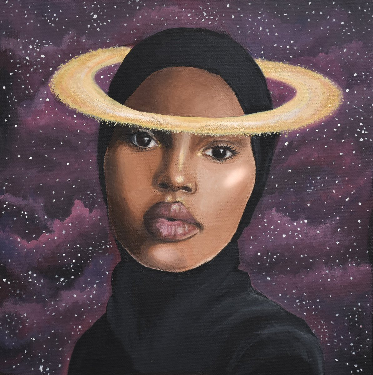 """Artworks  'Orbit' by ©Amina Pagliari.  Dr Hamid > ©Mutiny Projects (Simon Poulter, Sophie Mellor & Marcus Romer).   Artists will take part in tomorrow's """"Embracing Diversity"""" event.  Follow MKIAC for further updates.  #diversity #BAME #NHSheroes #art #COVID19 #BLM #inspiration https://t.co/NADLQFo2Hq"""