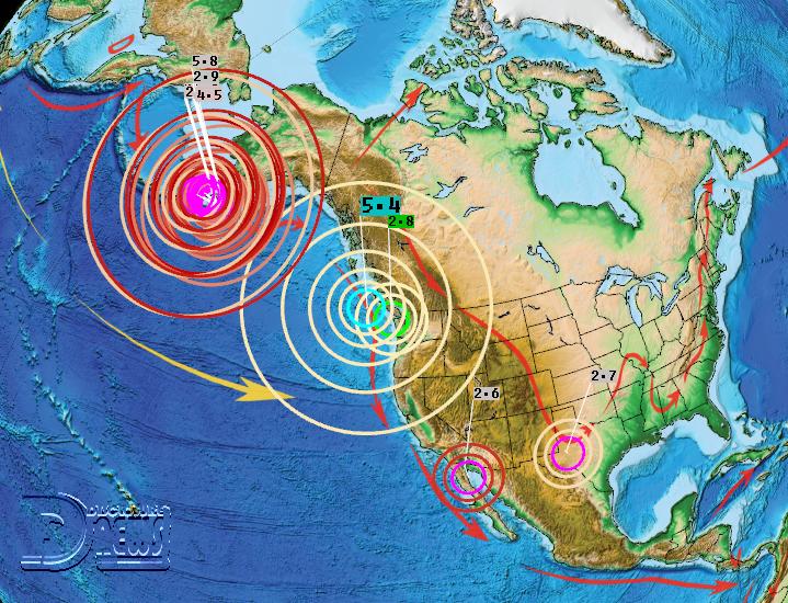 M7.8 Earthquake Alaska - Canada M5