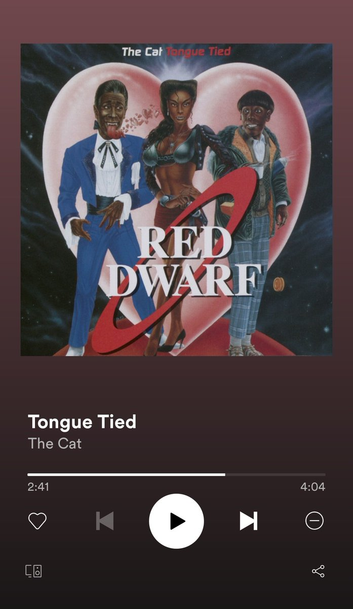 #MyTrackOfTheDay @DannyJohnJules @RedDwarfHQ #TongueTied #ParallelUniverse Cracking track to brighten ya day 👅👅 https://t.co/6QHUA9ladv