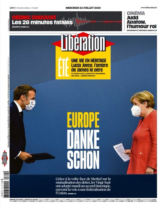 This is elegant. Libé is not tender with Macron, but it's an unstated compliment to him as well as Merkel https://t.co/TWxnRMRReM
