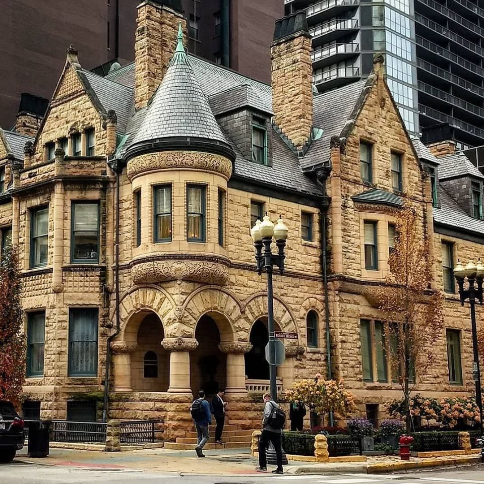 The Cable House is a Richardsonian Romanesque-style house near Michigan Avenue at 25 E. Erie St. in Chicago, Illinois, United States. The house was built in 1886