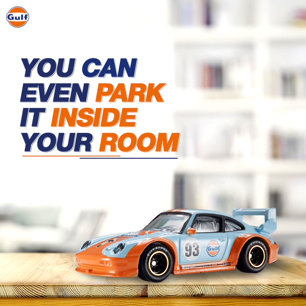 Designed in Gulf's unique livery, you can drive it anywhere, even if it's just from your living room to the kitchen. 😎 Visit https://t.co/mWFdHUVAFP to find out more.  #GulfOilInternational #GulfMerchandise #Car #ModelCar https://t.co/YV9ghY6pWV