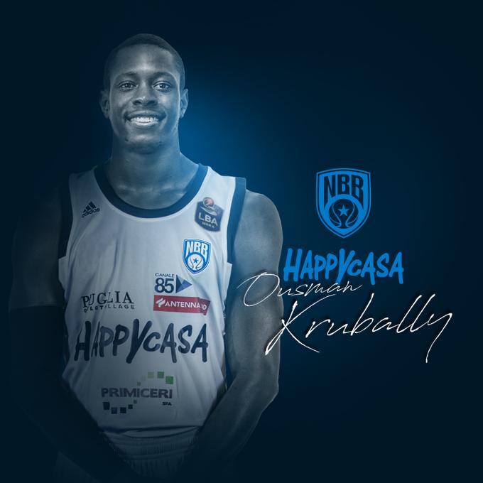 Happy Casa Brindisi, ufficiale l'ingaggio di Ousman Krubally