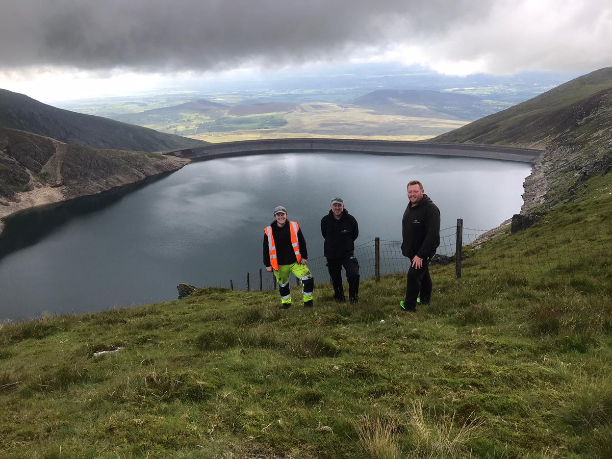 Crew walking around Marchlyn Mawr having completed the annual inspection for First Hydro https://t.co/Uv1bRsRZPv