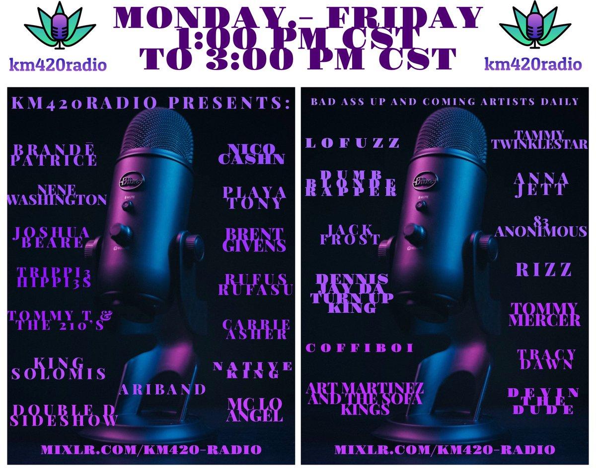 #music #streamingdaily #somethingforeveryone  Swing by and listen :) #ganja_grrl420 #COVID19 #StaySafe #KanyeWest  #420allmonth  #420smoke #cannaradio  #radiodj https://t.co/cMkBNdrchI https://t.co/Qztz0l0F3q