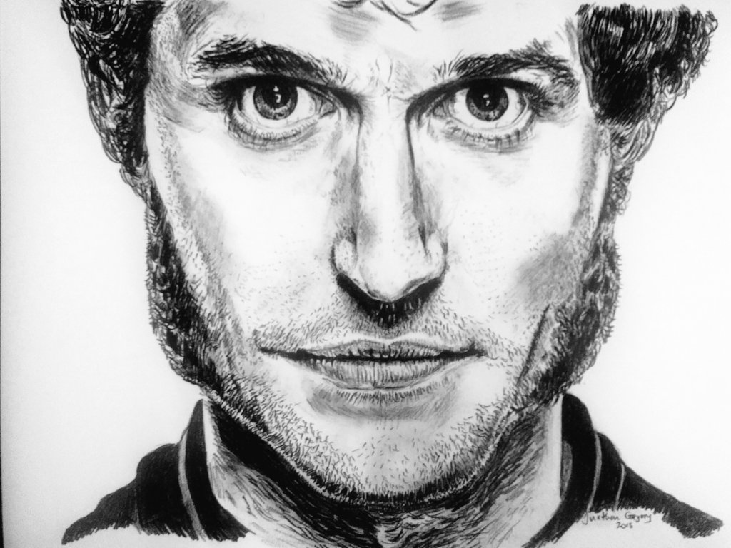 Remember this guy? This guy is #GuyMartin....motorbike champion turned tv presenter.... I don't do many close ups but love the intensity in his eyes  I got a bit fed up with people thinking it's Hugh Jackman so might sell it as either 👍 #artistsontwitter #portrait #art https://t.co/v6sw5xGvww