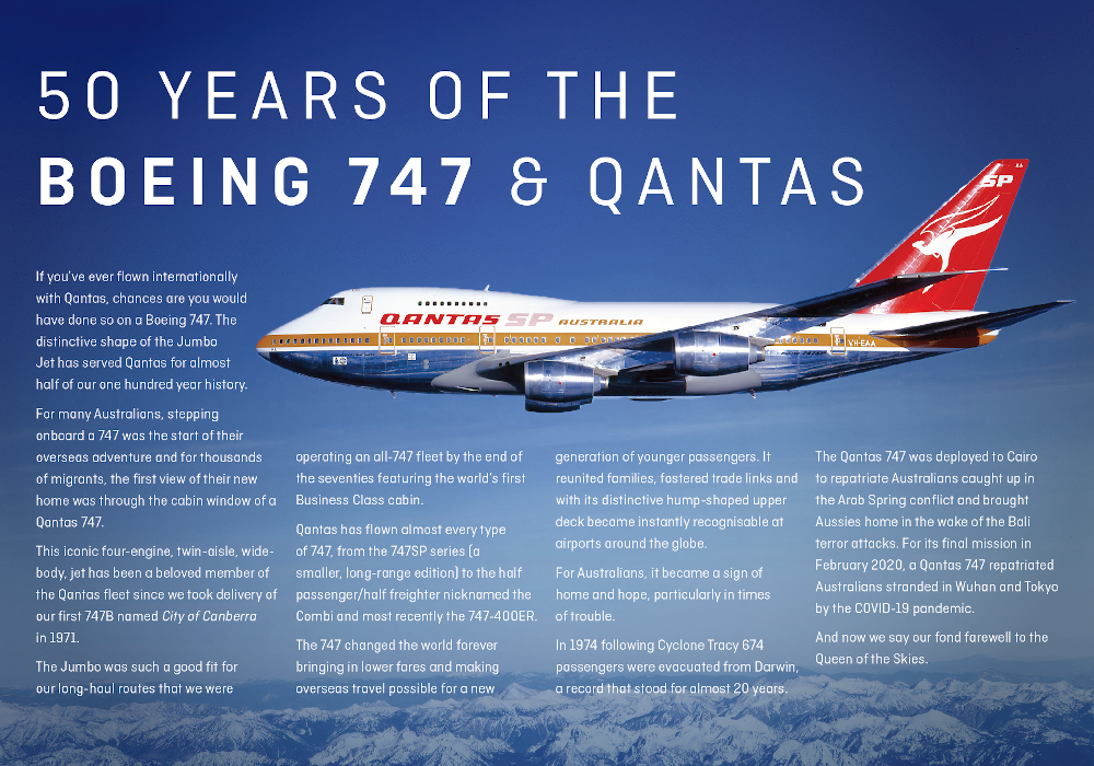 Today was a sad day for @Qantas, marking the end of the Boeing 747 in service with the carrier. Before flying to LAX as #QF7474, then Mojave, VH-OEJ drew the 'Flying Kangoroo' insignia over the skies of Sydney.   #Qantas #QueenOfTheSkies #Boeing747 #Qantas747 @Boeing https://t.co/QU9B8dLUfZ