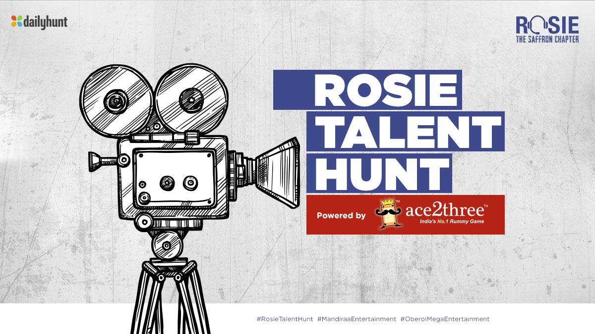 Extremely happy to announce the partnership with Ace2Three for this initiative! Let Talent speak for itself #RosieTalentHunt #Countdown @Ace2Three #prernavarora @Keyurpandya12